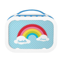 Colorful rainbow Lunch Box