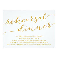MODERN CALLIGRAPHY | REHEARSAL DINNER INVITATION