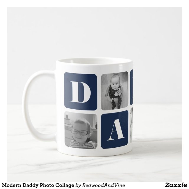 Daddy Photo Collage Mug