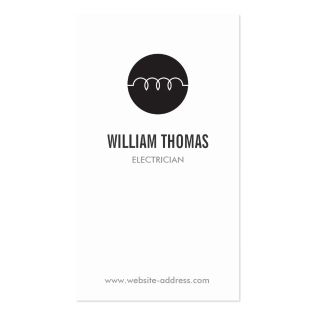 MODERN ELECTRICIAN LOGO BUSINESS CARD TEMPLATE
