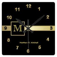 Monogram Classy Wall Clock