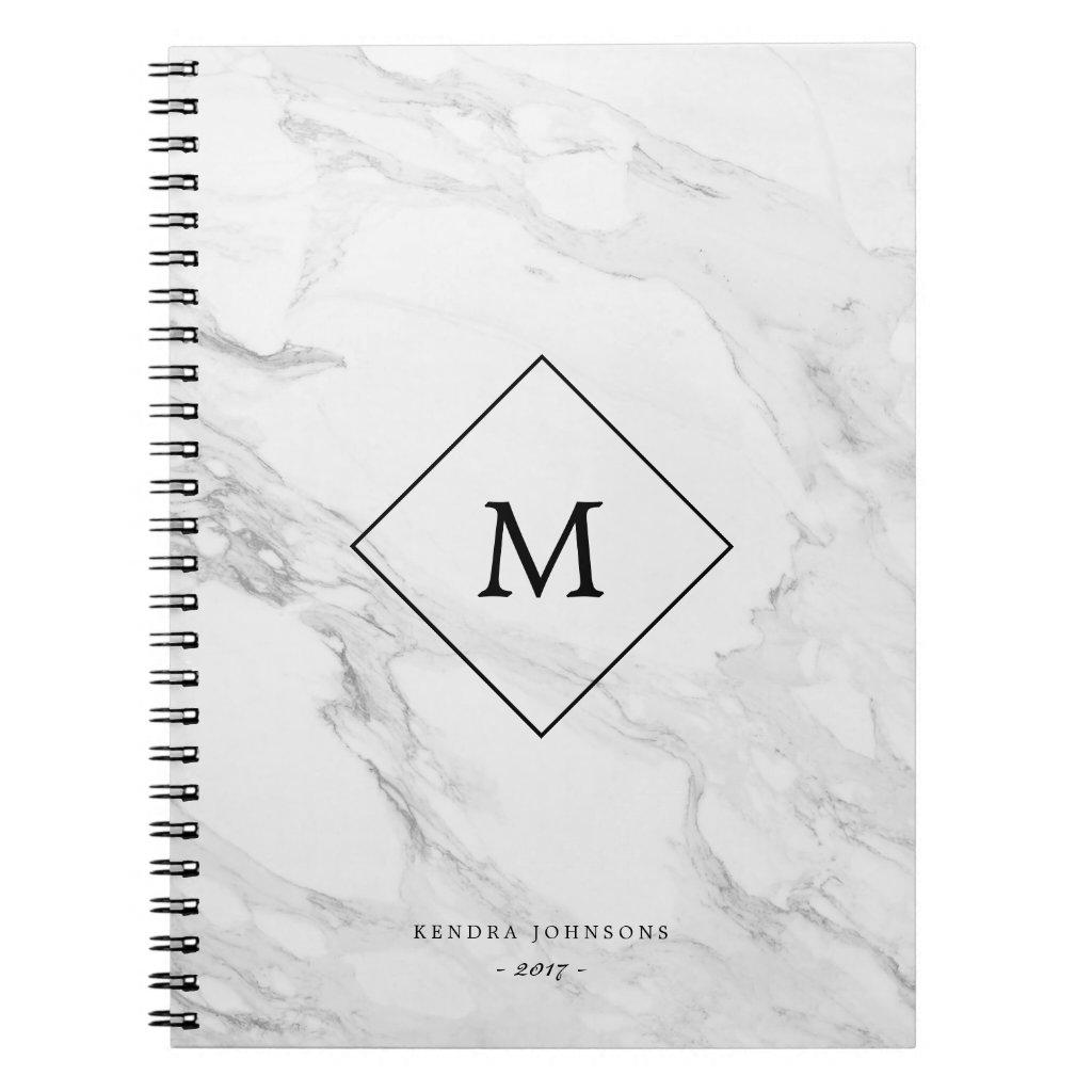Monogram Marble Notebook