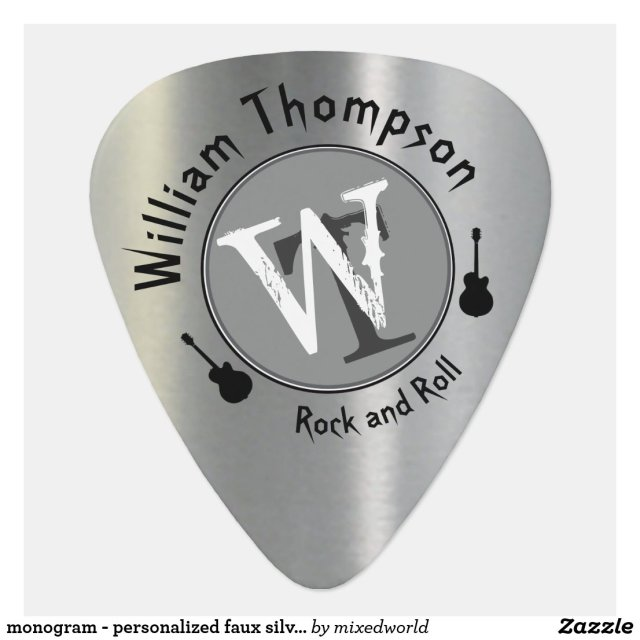 Monogram Personalised Guitar Pick