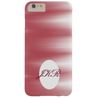 Monogram phone case pink abstract artwork