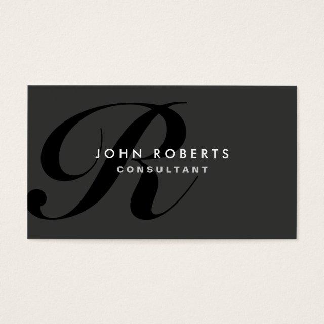 Monogram Professional Elegant Modern Black