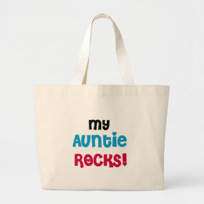 My Auntie Rocks Large Tote Bag
