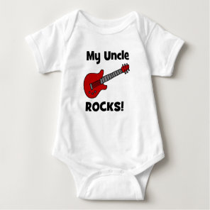 My Uncle Rocks! with guitar Baby Bodysuit