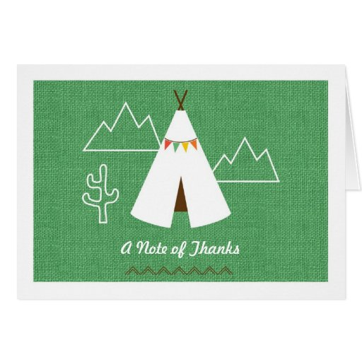 Native American Birthday Party Thank You Card Zazzle