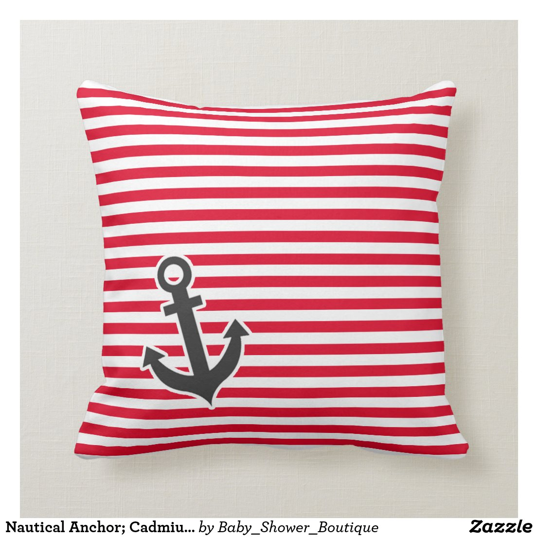 Nautical Anchor; Cadmium Red Stripes; Striped