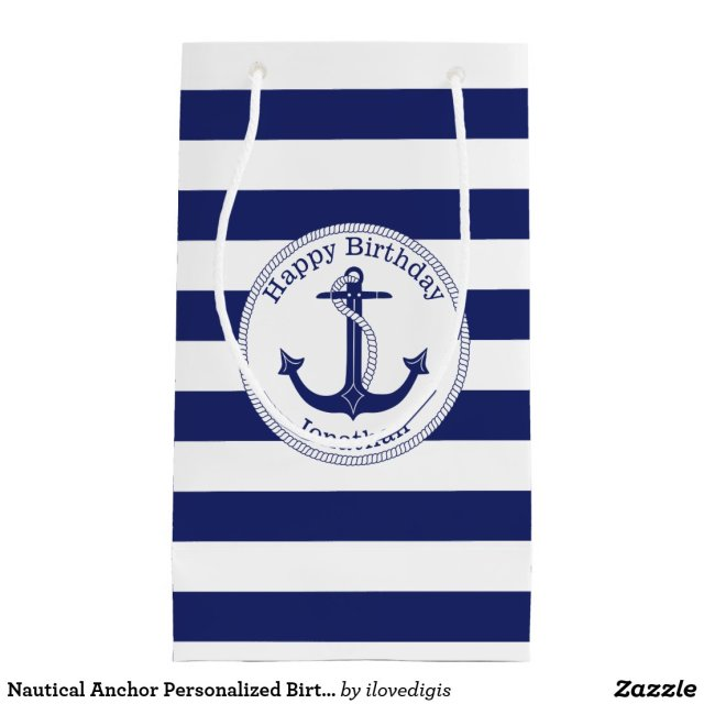 Nautical Anchor Personalised Birthday