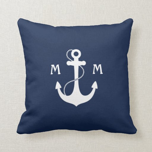 Nautical Monogram Cushion