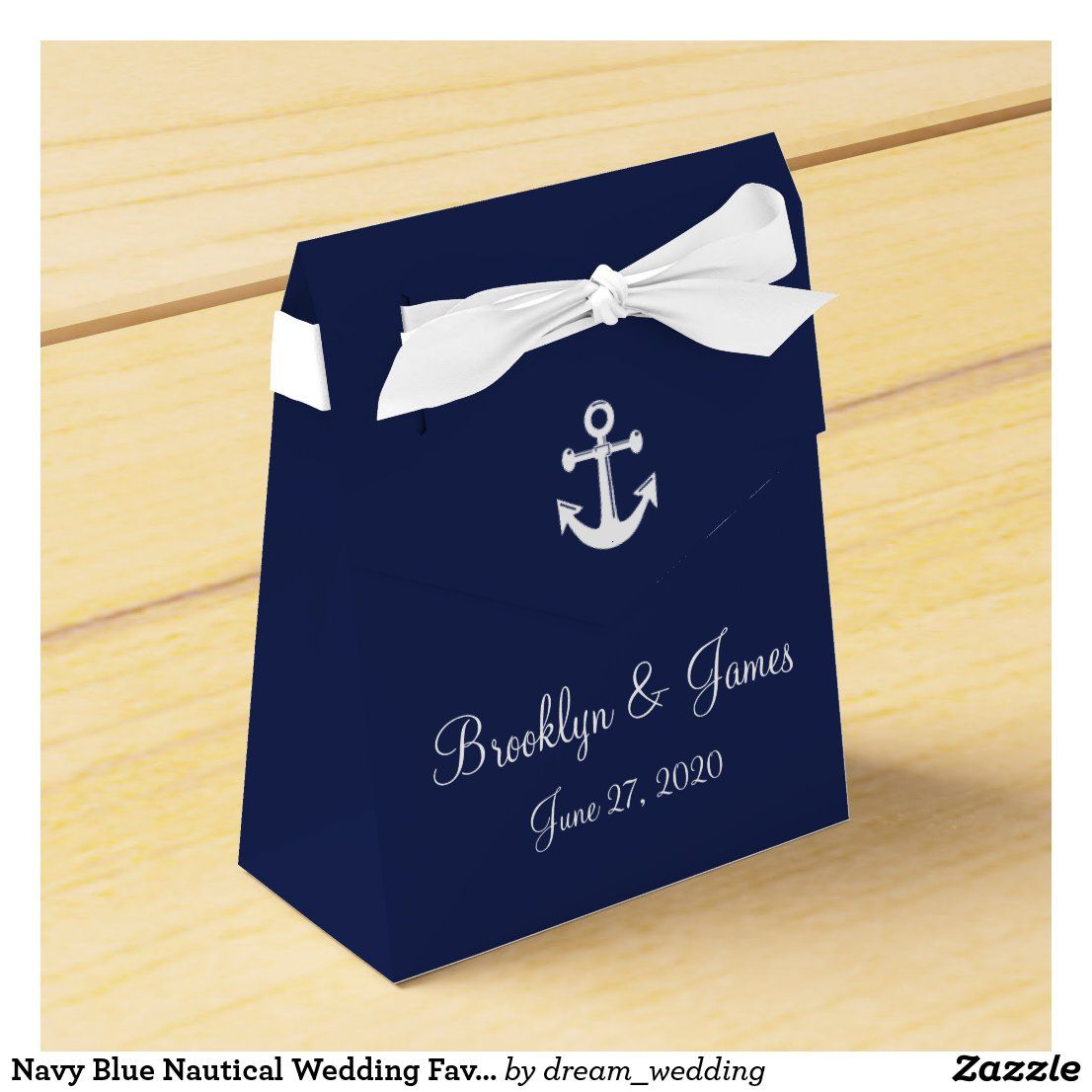Nautical Wedding Favour Boxes