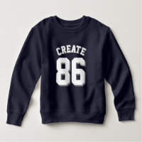 Navy & White Toddler | Sports Jersey Sweatshirt