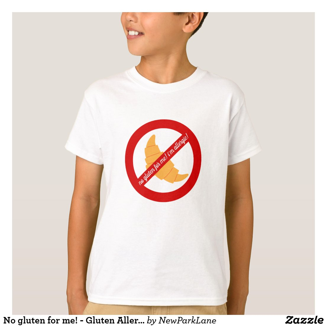 No gluten for me! - Gluten Allergy Alert T-Shirt