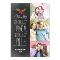 Oh By Golly Holiday Photo Card