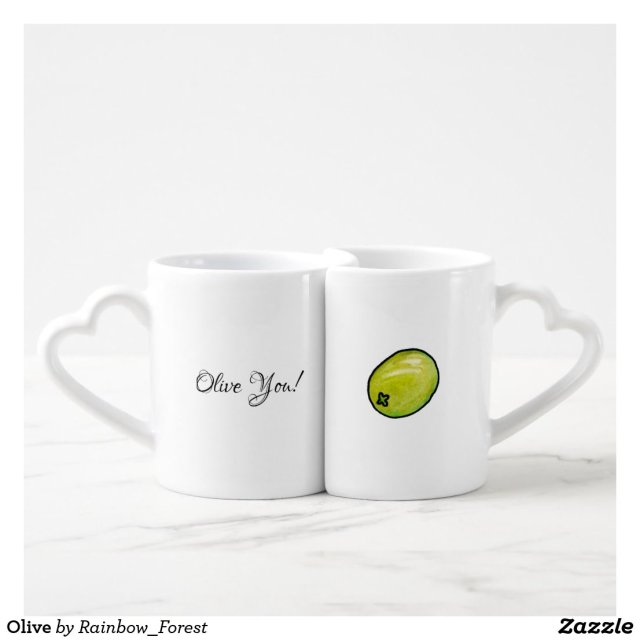 Olive Coffee Mug Set