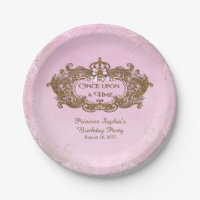 Once Upon a Time Princess Paper Plate