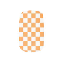 Orange White Checker Pattern Nail Coverings Minx® Nail Wraps