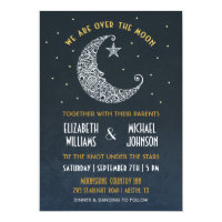Over the Moon Wedding Invitation