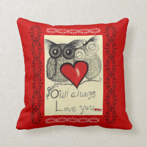 Owl Always Love you- American MoJo Pillow