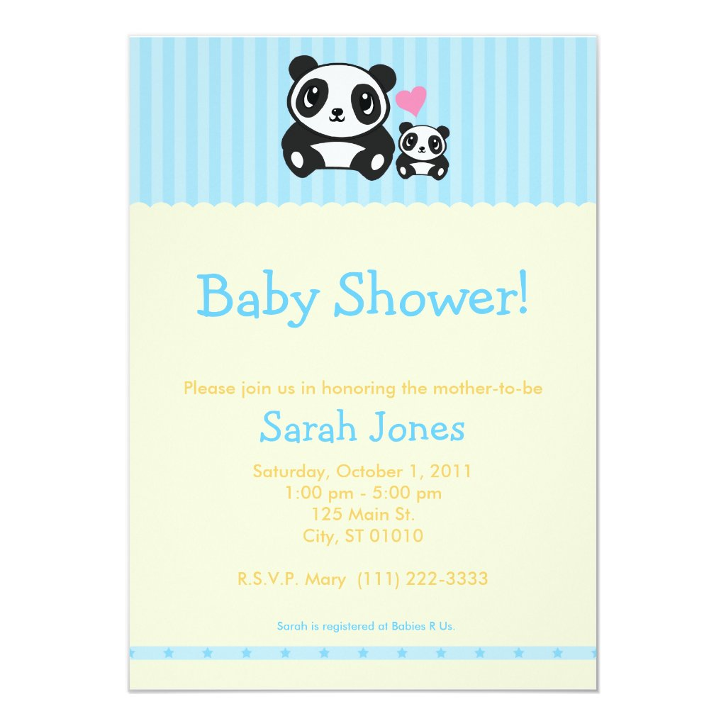 Panda Baby Shower - Blue & Orange