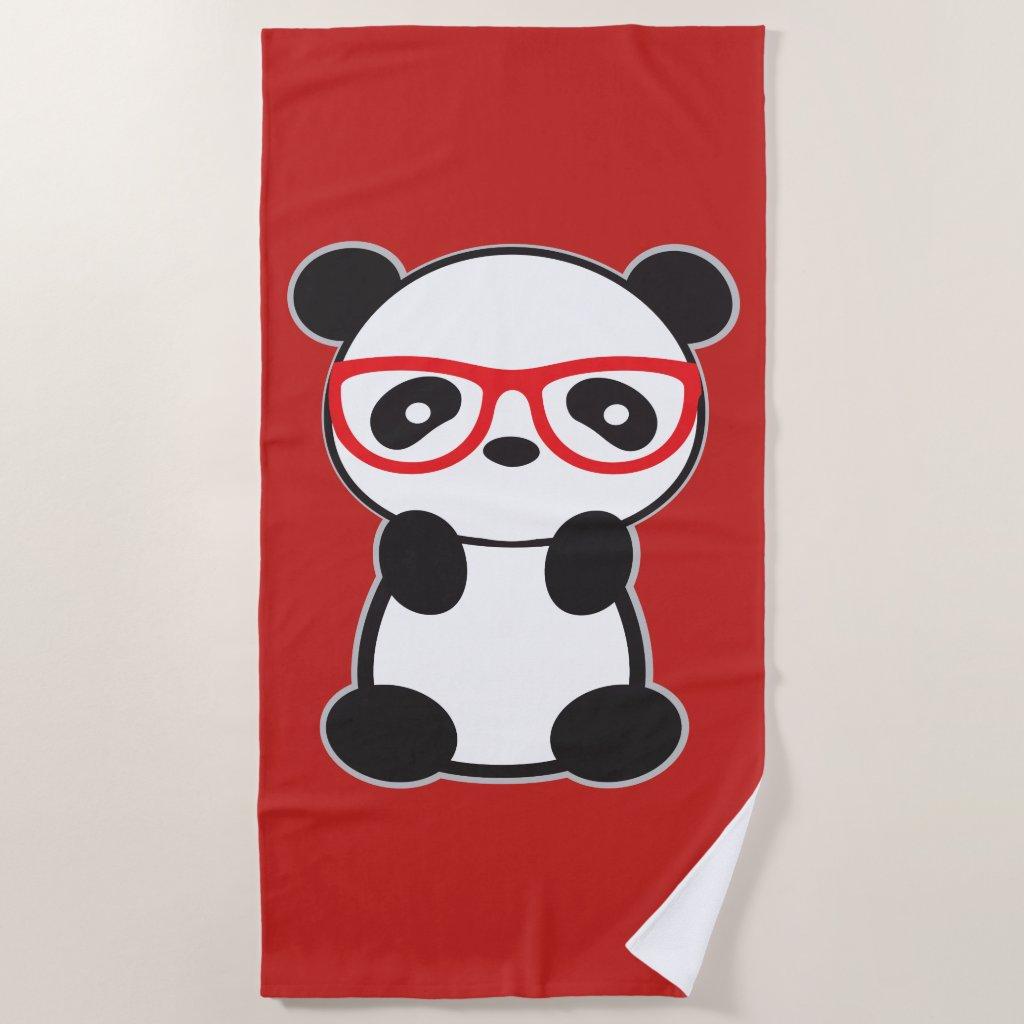 Panda Bear Beach Towel - Leon the Panda Bear