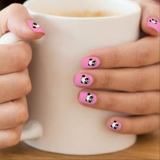 Panda Bear Nail Art