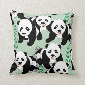 Panda Bears Graphic Cushion