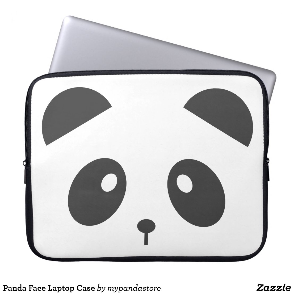 Panda Face Laptop Case