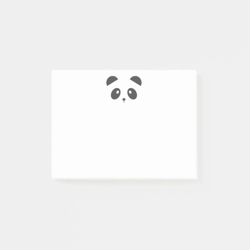 Panda face post it notes