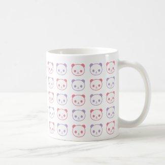 panda panda panda basic white mug