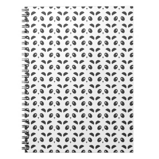 Panda Pattern Notebook
