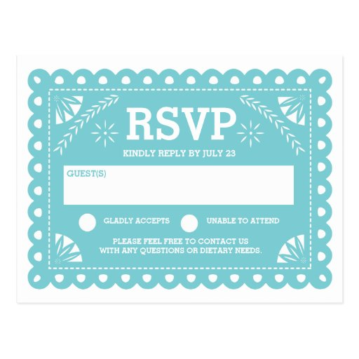 Papel Picado Wedding RSVP