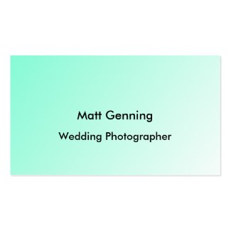 Pastel business cards add a picture or logo