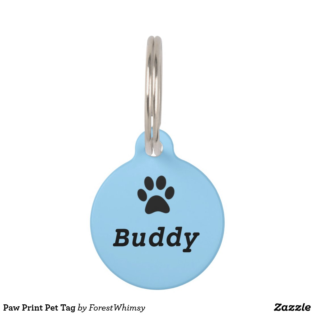 Paw Print Pet Tag