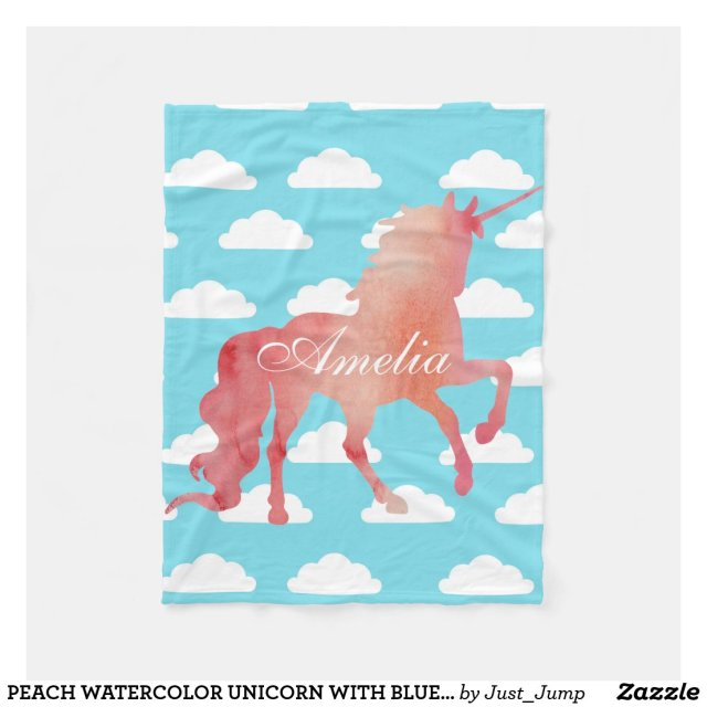 Watercolor Unicorn Blanket
