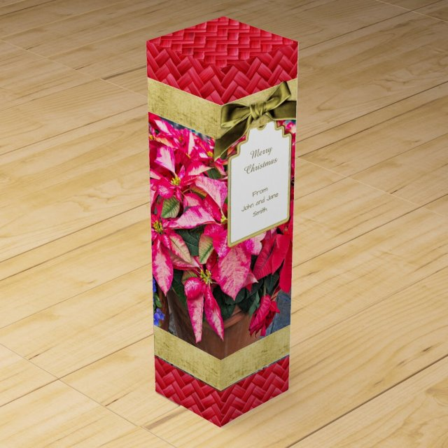Personalise: Poinsettia Christmas Picture
