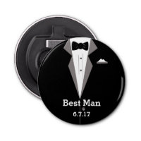 Personalise Tuxedo Art Bottle Opener