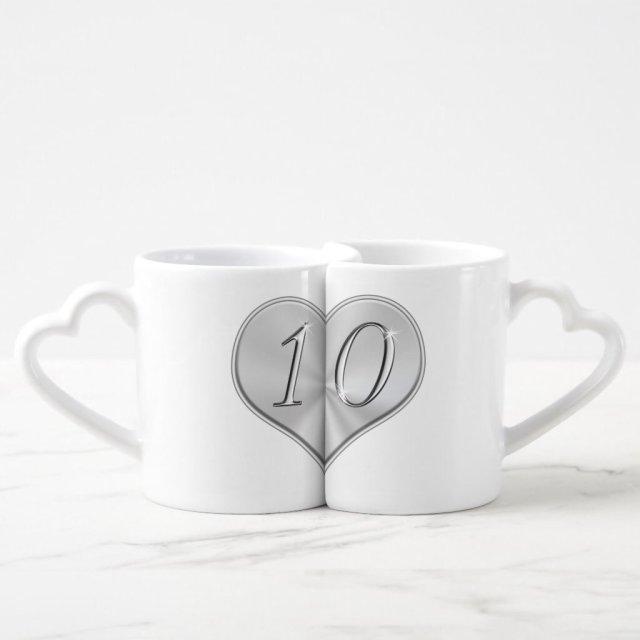 Personalised 10th Wedding Anniversary Mugs