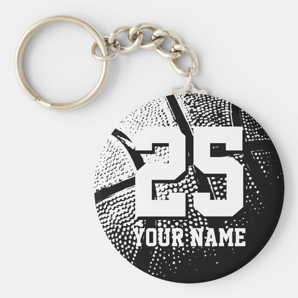 Personalised basketball keychain