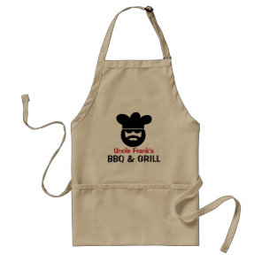 Personalised BBQ apron for men