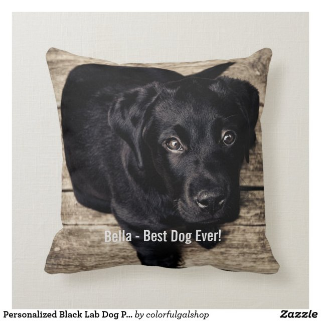 Personalised Black Lab Dog Photo and Dog Name