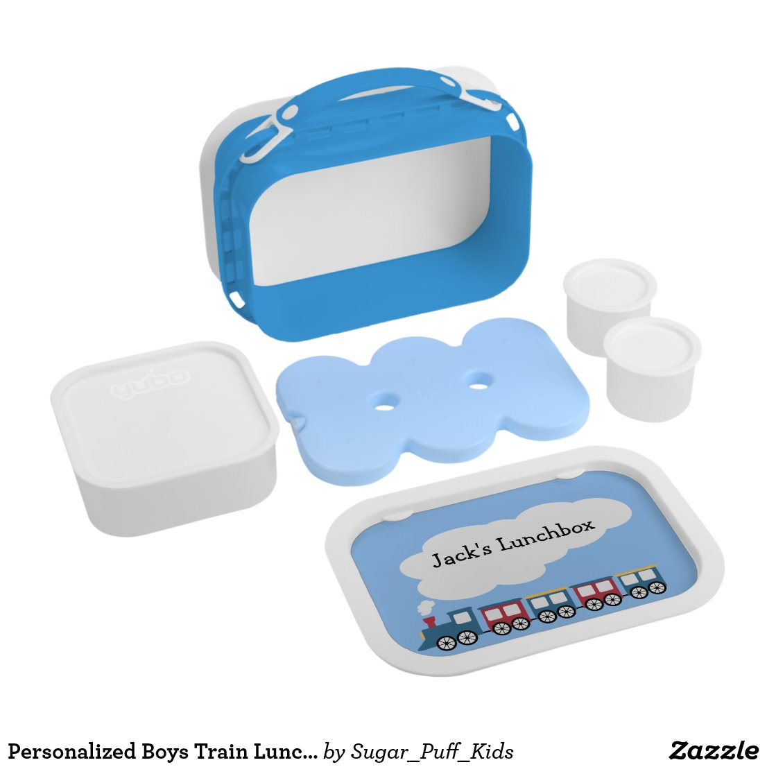 Personalised Boys Train Lunchbox