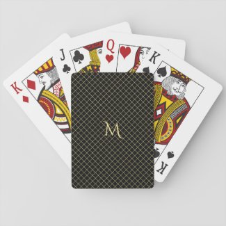 Personalised Faux Gold Monogram Playing Cards