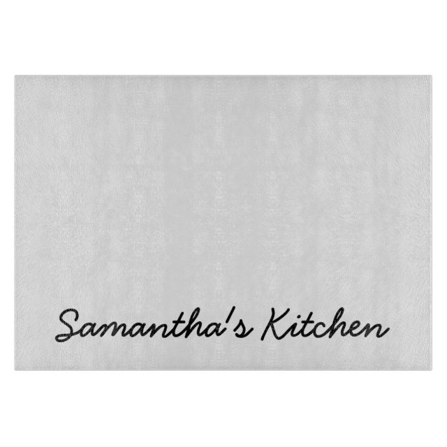 Personalised glass cutting board