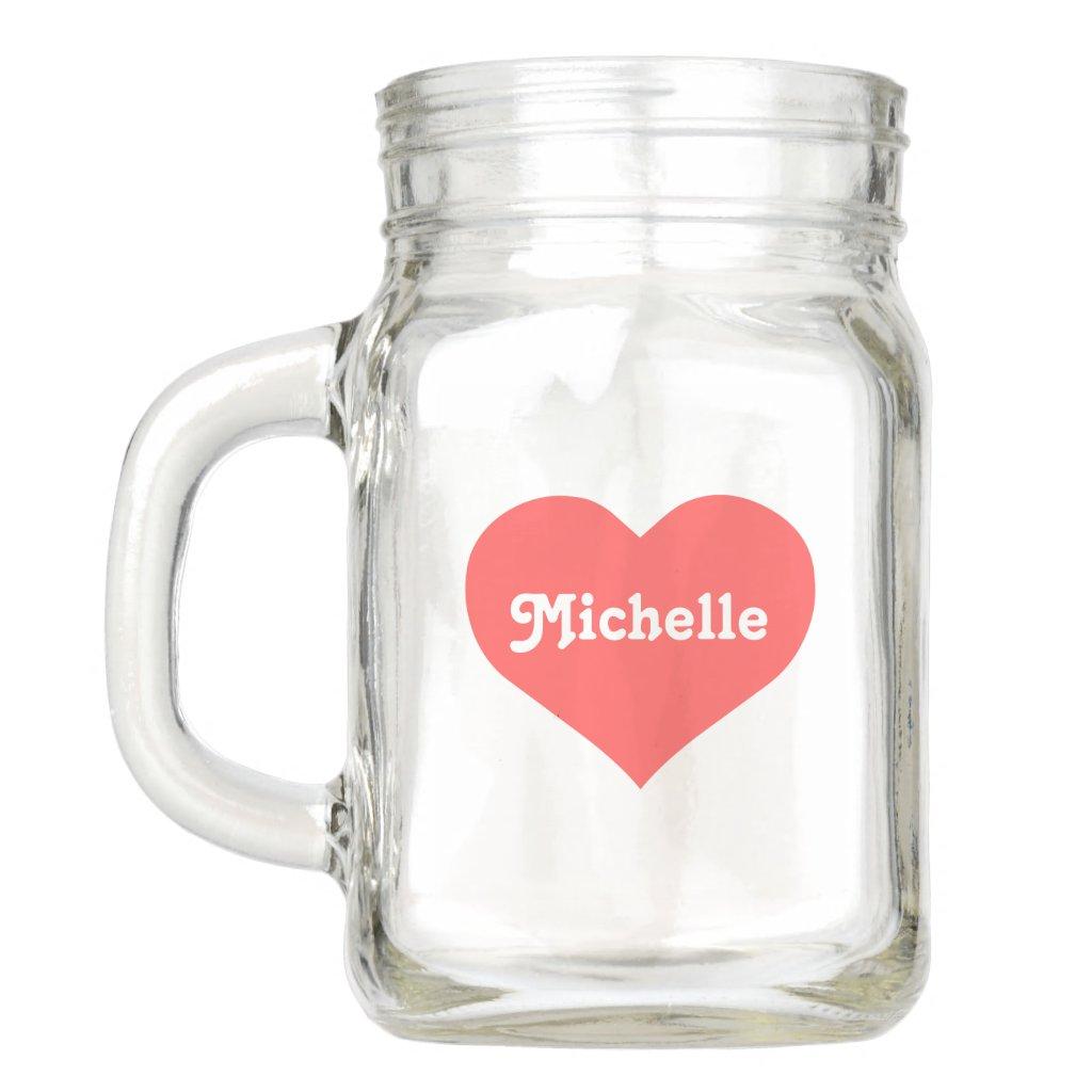 Personalised Heart Mason Jar