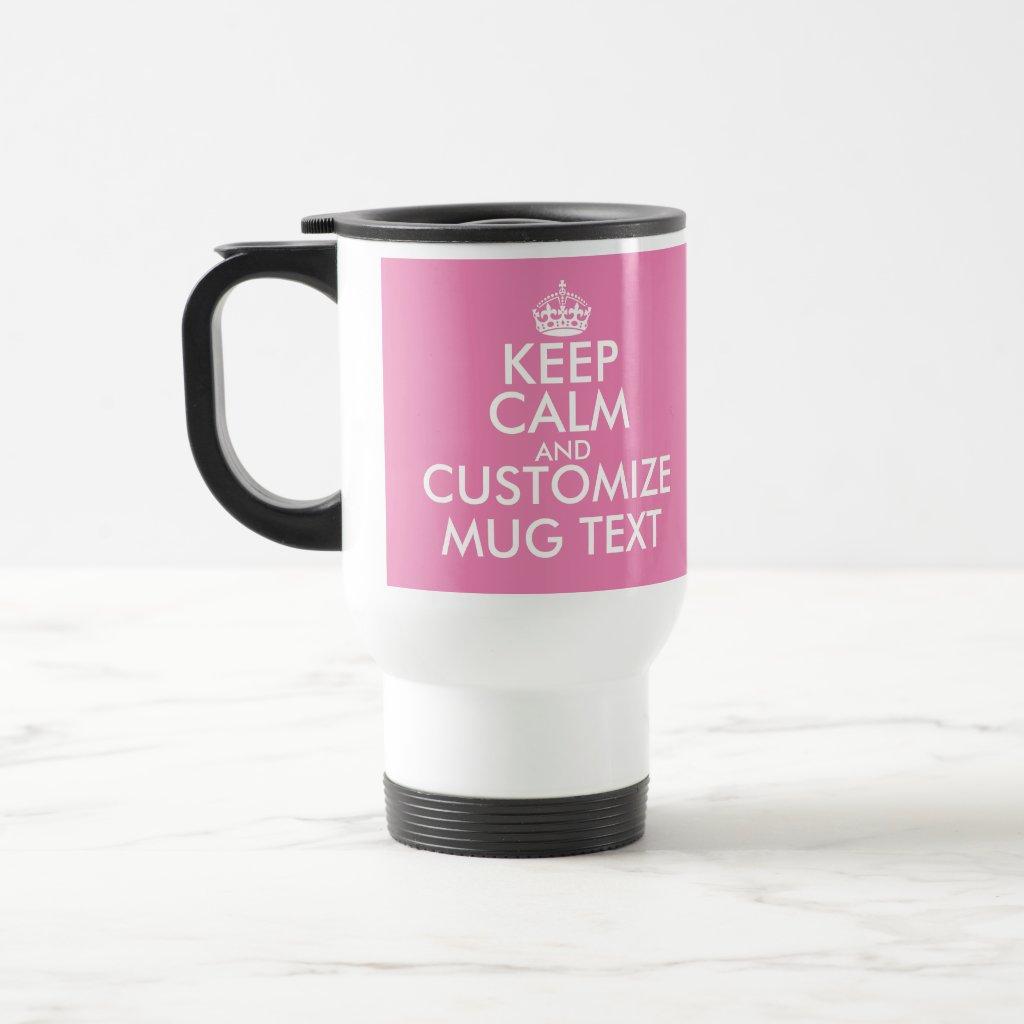 Personalised Keep Calm travel mug