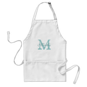 Personalised monogram baking apron for women