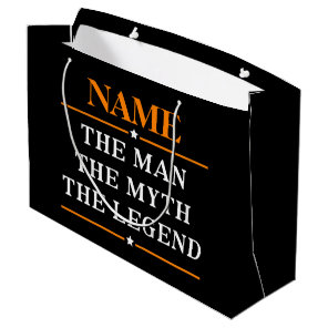 Personalised Name The Man The Myth The Legend Large Gift Bag