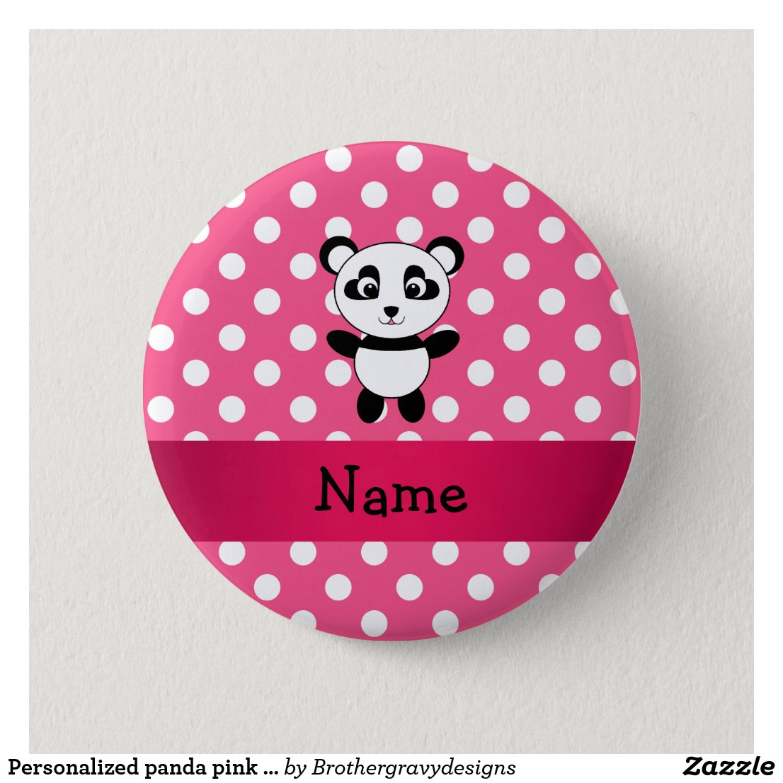 Panda polka dot badge